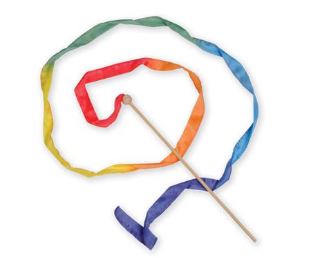 ごっご遊び 棒 リボン スティック シルク 木製